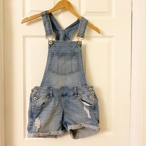 Blue Spice | Overalls Shorts | Light Wash Denim